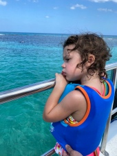 G was sad that she couldn't go snorkeling