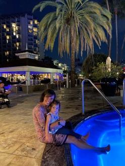 Hot tubbin at night